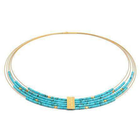 Orfea Turquoise Necklace - 85185256-Bernd Wolf-Renee Taylor Gallery