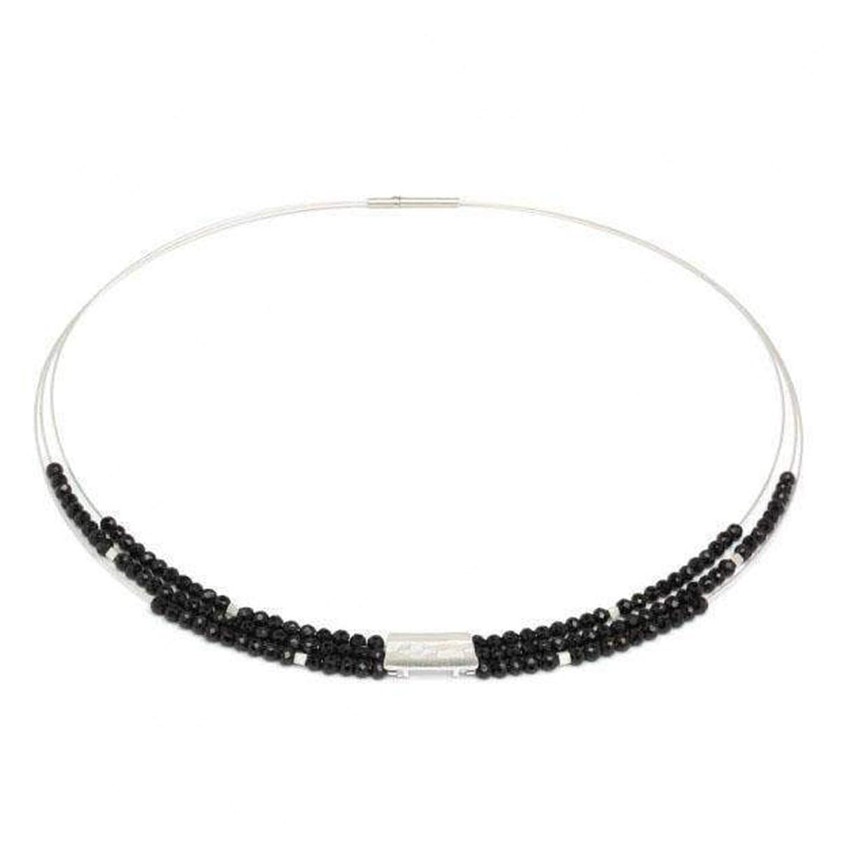 Orfini Black Spinel Necklace - 85089494-Bernd Wolf-Renee Taylor Gallery