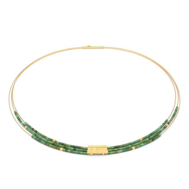 Orfini Green Turquoise Necklace - 85089356-Bernd Wolf-Renee Taylor Gallery