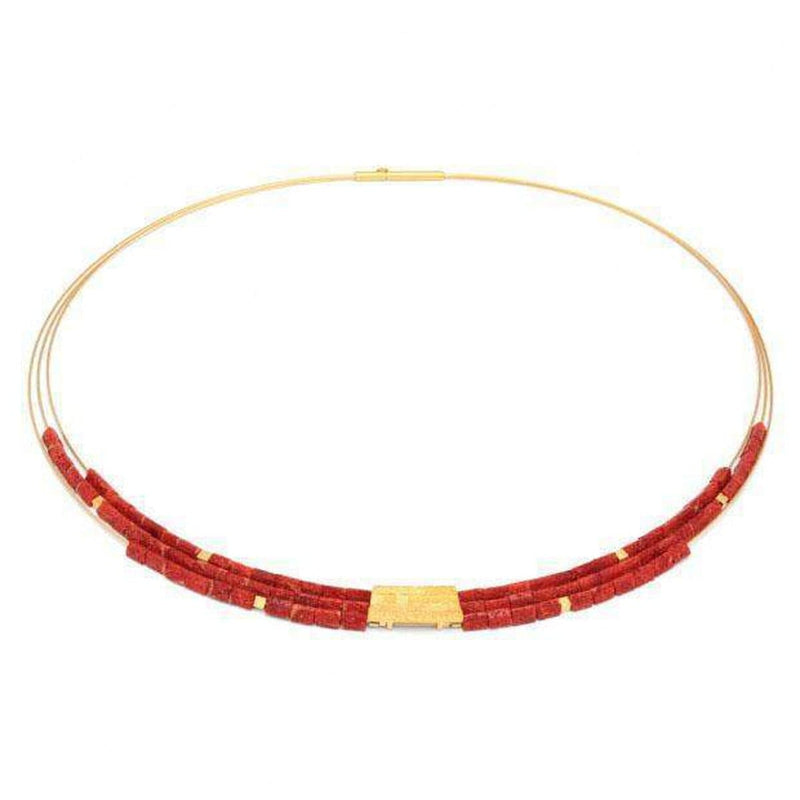 Orfini Red Stone Necklace - 85089296-Bernd Wolf-Renee Taylor Gallery