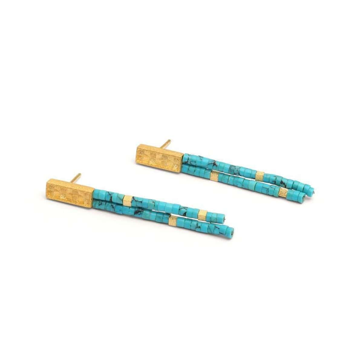 Orfini Turquoise Earrings - 15791256-Bernd Wolf-Renee Taylor Gallery