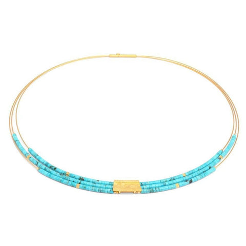 Orfini Turquoise Necklace - 85089256-Bernd Wolf-Renee Taylor Gallery