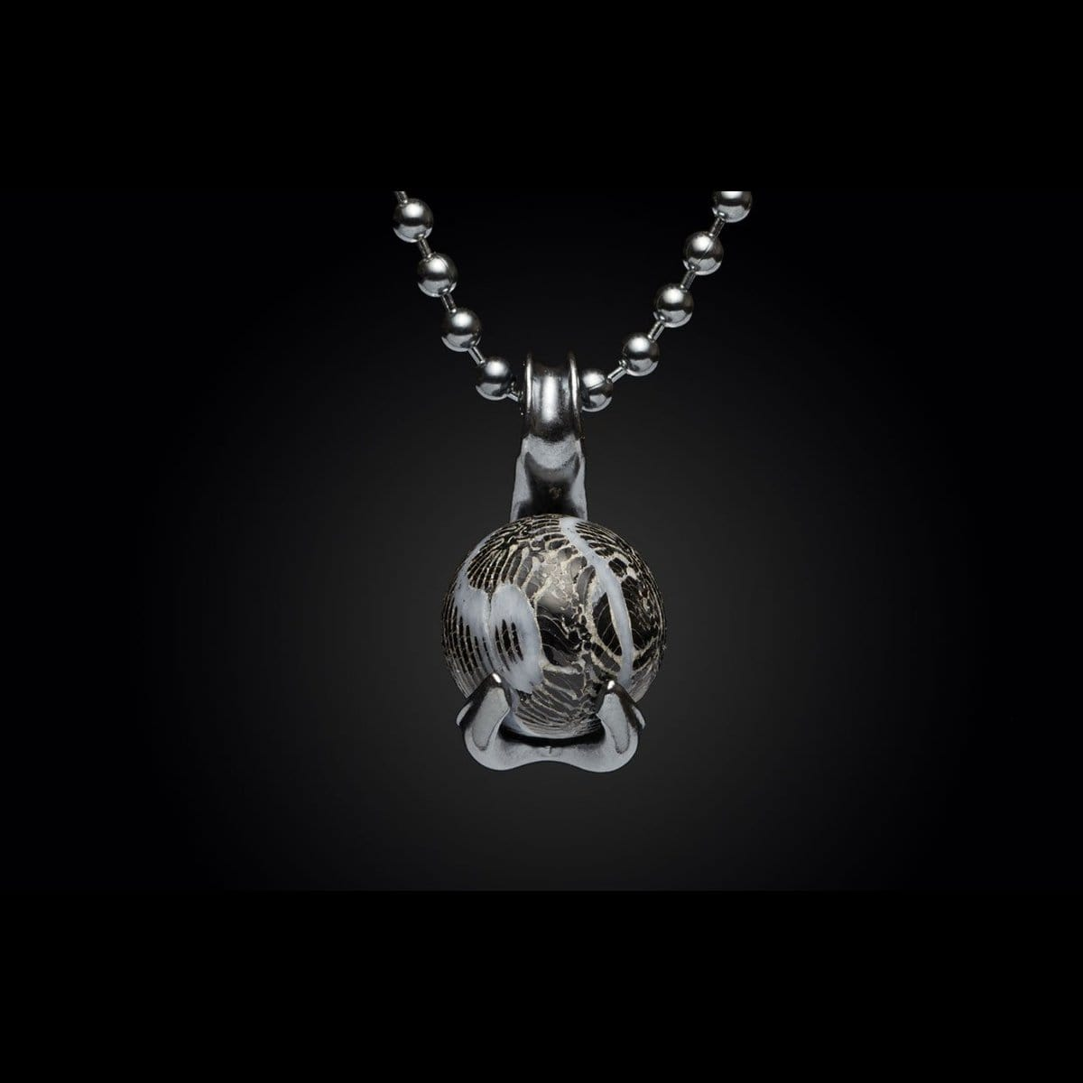 Men's Black Swan Necklace - P25 FC-William Henry-Renee Taylor Gallery