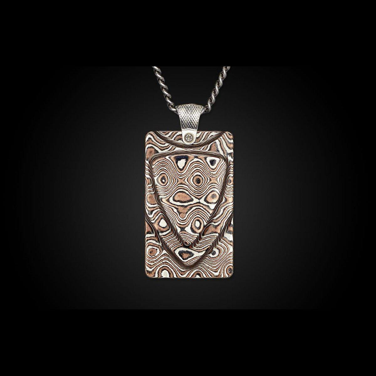 Men's Mokume Forge Necklace - P33 MOK-William Henry-Renee Taylor Gallery