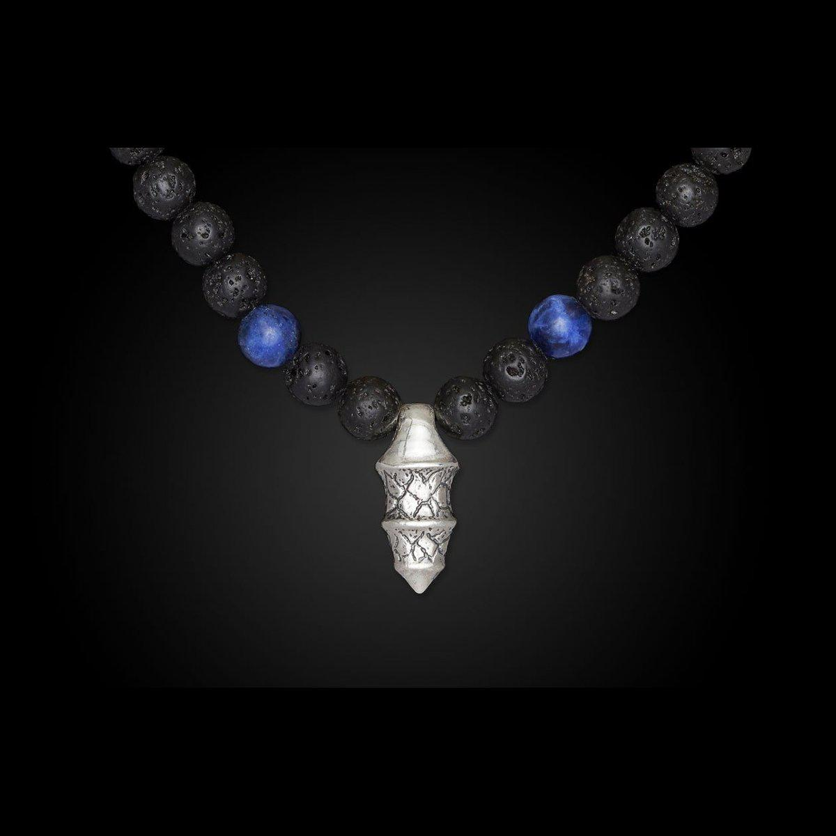 Men's Sodalite Elan Necklace - P34 SOD-William Henry-Renee Taylor Gallery