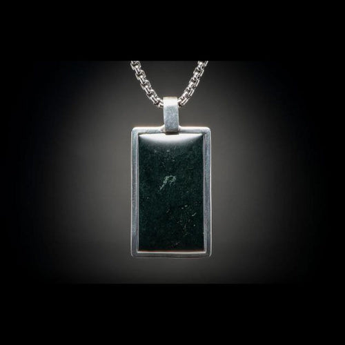 Men's Black Jade Pinnacle Necklace - P43 BLK J-William Henry-Renee Taylor Gallery