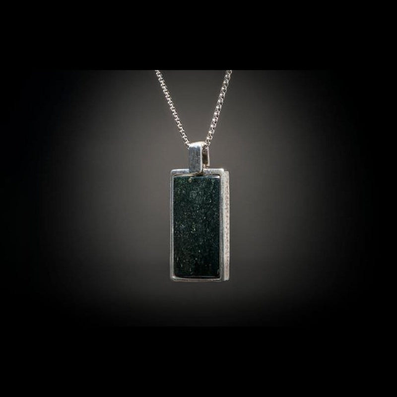 Men's Black Jade Shift Necklace - P44 BLK J-William Henry-Renee Taylor Gallery