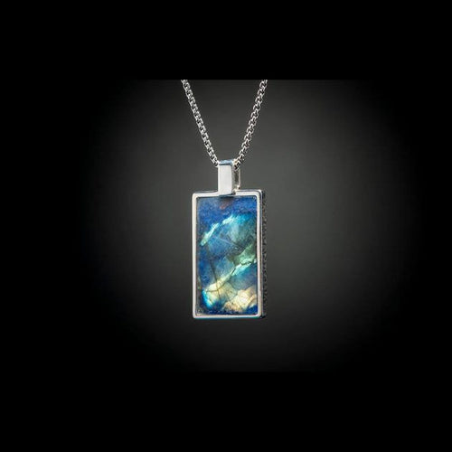 Men's Labradorite Shift Necklace - P44 LAB-William Henry-Renee Taylor Gallery
