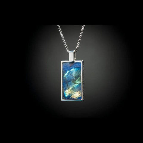 Men's Labradorite Shift Necklace - P44 LAB - William Henry