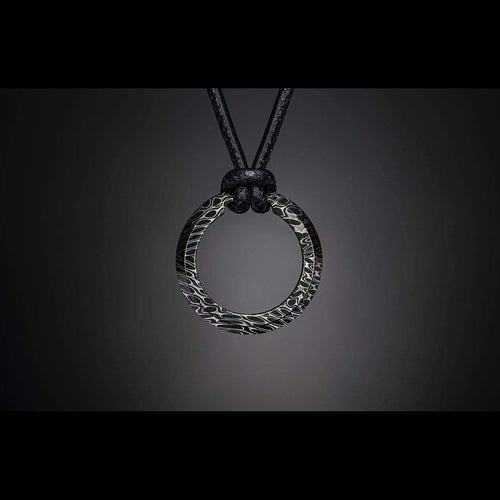 Damascus Orbit Necklace - P50 DAM-William Henry-Renee Taylor Gallery