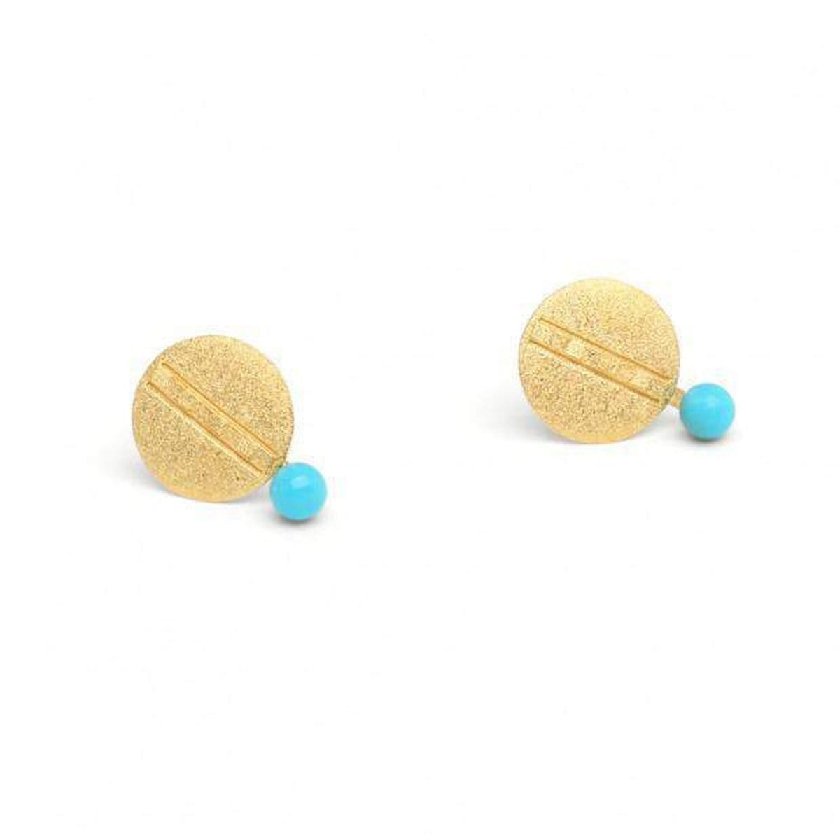 Pamette Turquoise Pin Earrings - 19280256-Bernd Wolf-Renee Taylor Gallery
