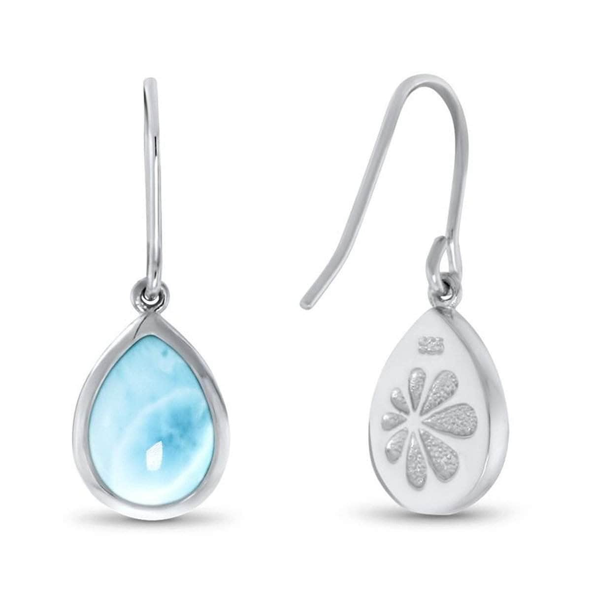 Pear Dangle Earrings - Ebasi08-00-Marahlago Larimar-Renee Taylor Gallery