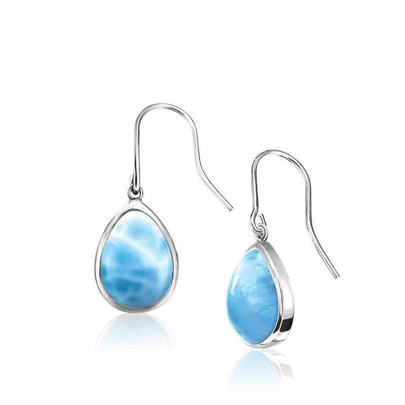 Basic Pear Dangle Earrings - Ebasi08-00-Marahlago Larimar-Renee Taylor Gallery