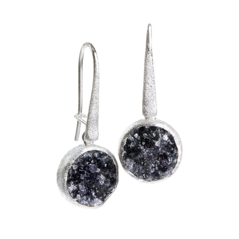 Petal Sterling Silver & Druzy Earrings - S2000E-Nina Nguyen-Renee Taylor Gallery