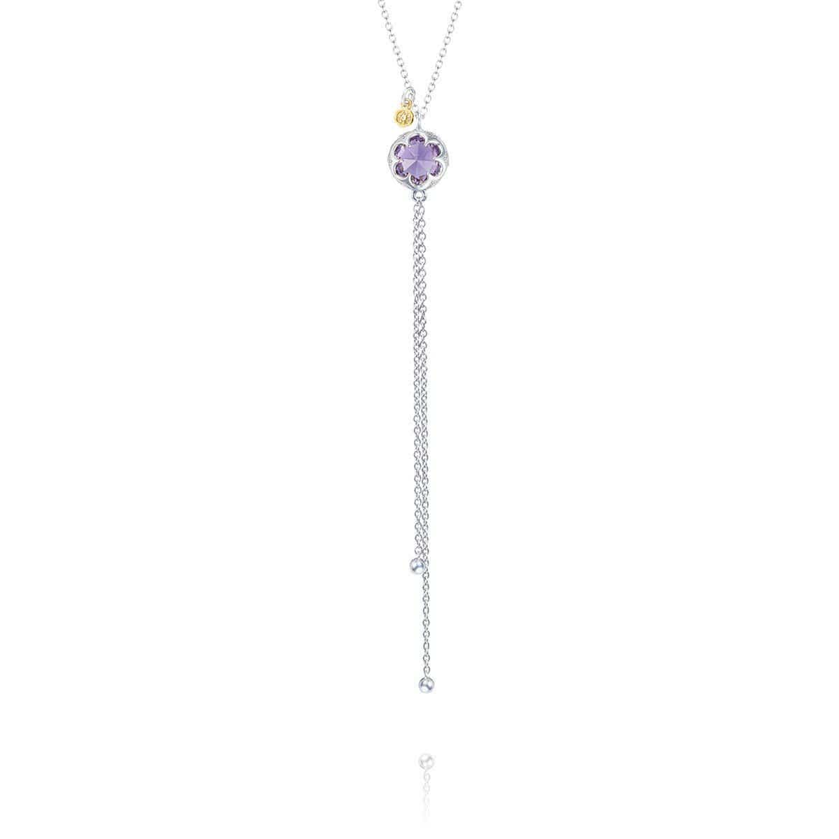 Petite Sterling Silver Lariat Necklace with Amethyst - SN20101 - Tacori