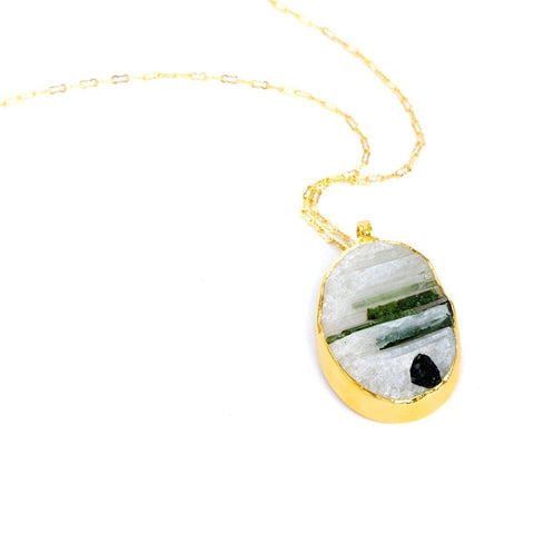 Pinnacle 22k Gold Plated & Tourmaline Necklace - G8034N-TML-Nina Nguyen-Renee Taylor Gallery