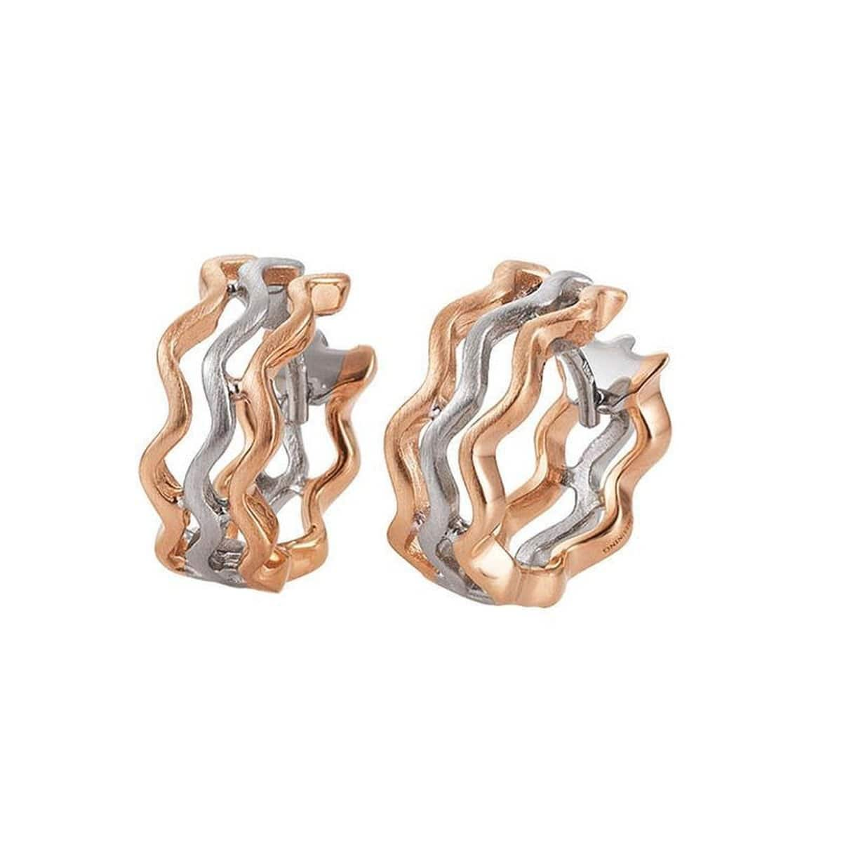 Rose Gold Plated Sterling Silver Earrings - 06/60763-Breuning-Renee Taylor Gallery