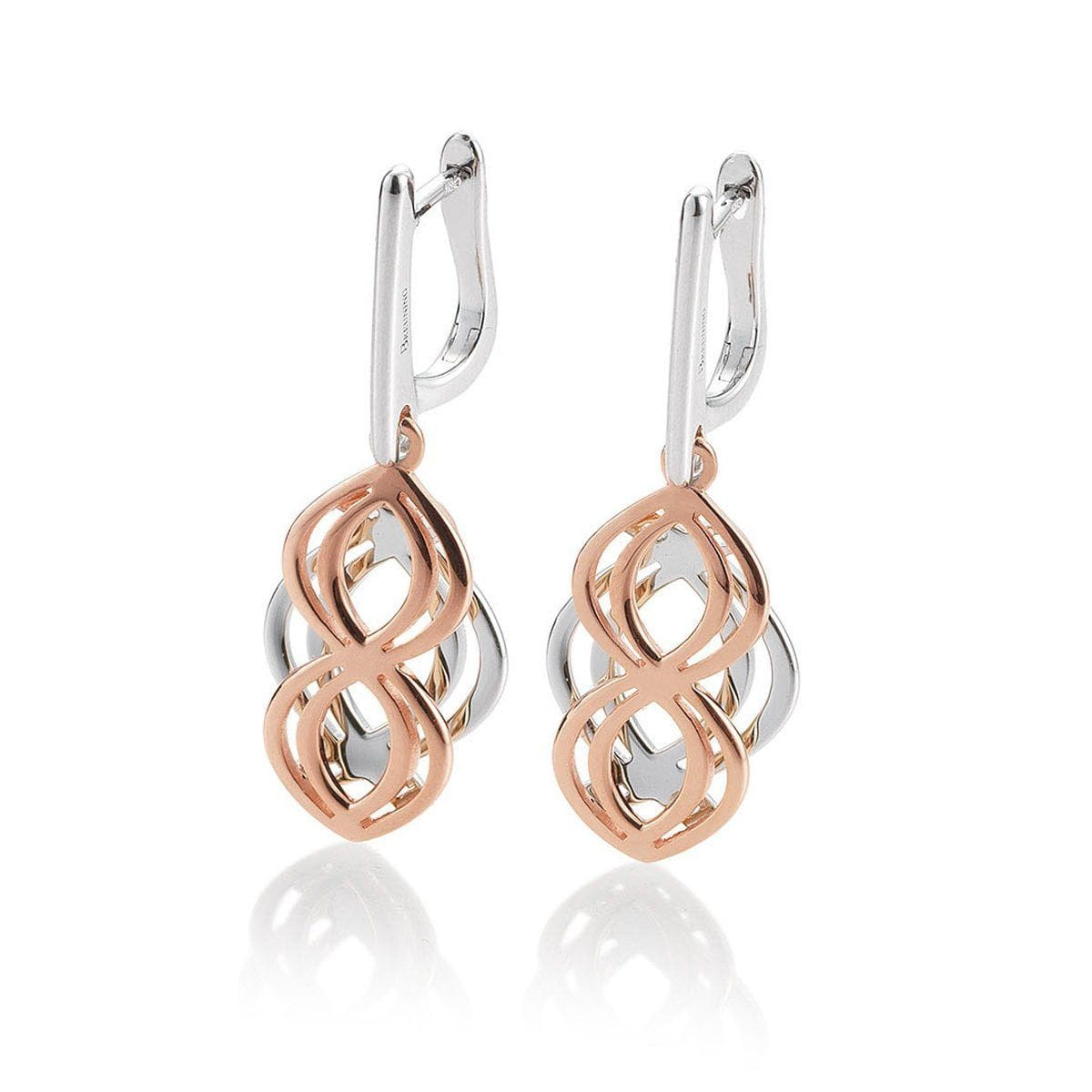 Rose Gold Plated Sterling Silver Earrings - 14/02630-Breuning-Renee Taylor Gallery