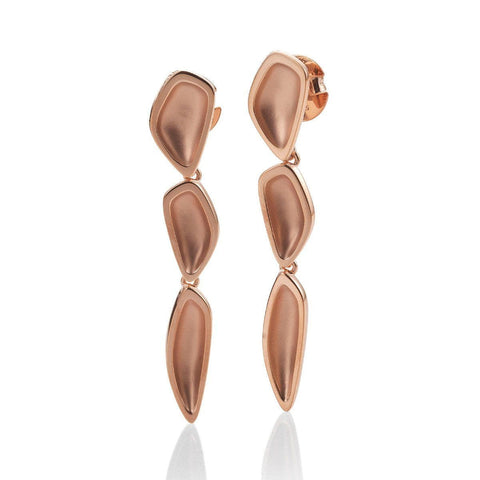 Rose Gold Plated Sterling Silver Earrings - 14/02632-Breuning-Renee Taylor Gallery