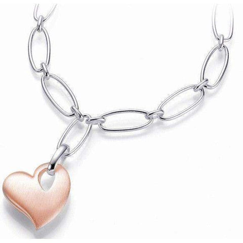 Rose Gold Plated Sterling Silver Necklace - 64/01057-8 - Breuning