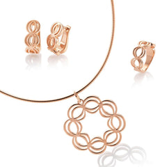 Rose Gold Plated Sterling Silver Pendant - 34/01738-Breuning-Renee Taylor Gallery