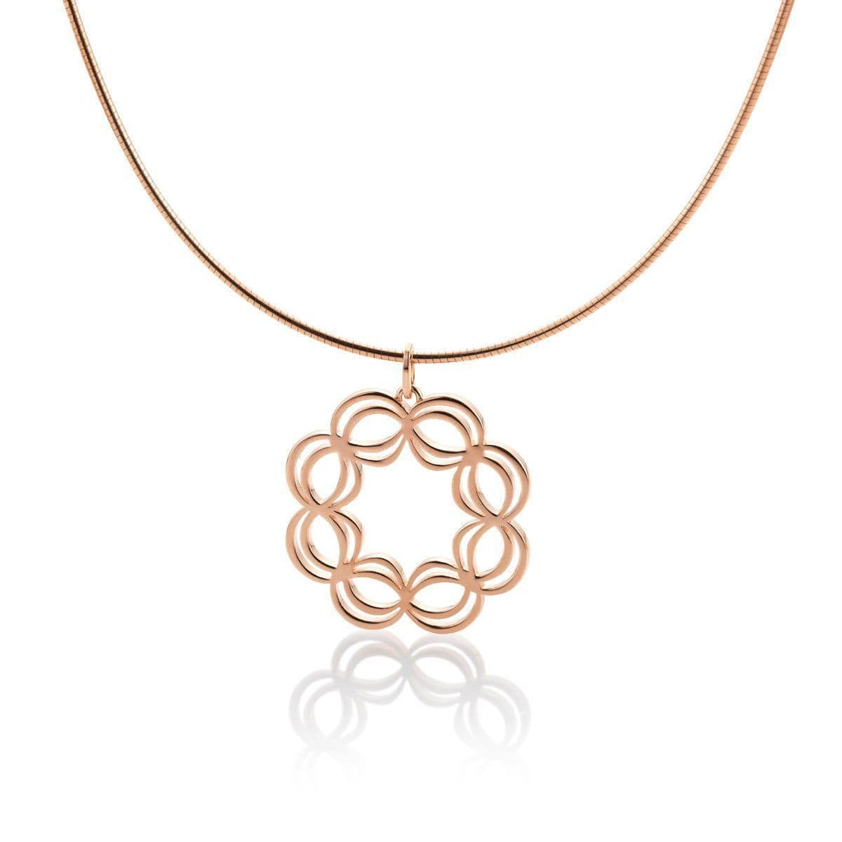 Rose Gold Plated Sterling Silver Pendant - 34/01738