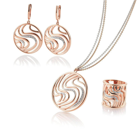 Rose Gold Plated Sterling Silver Sapphire Earrings - 06/60812-Breuning-Renee Taylor Gallery