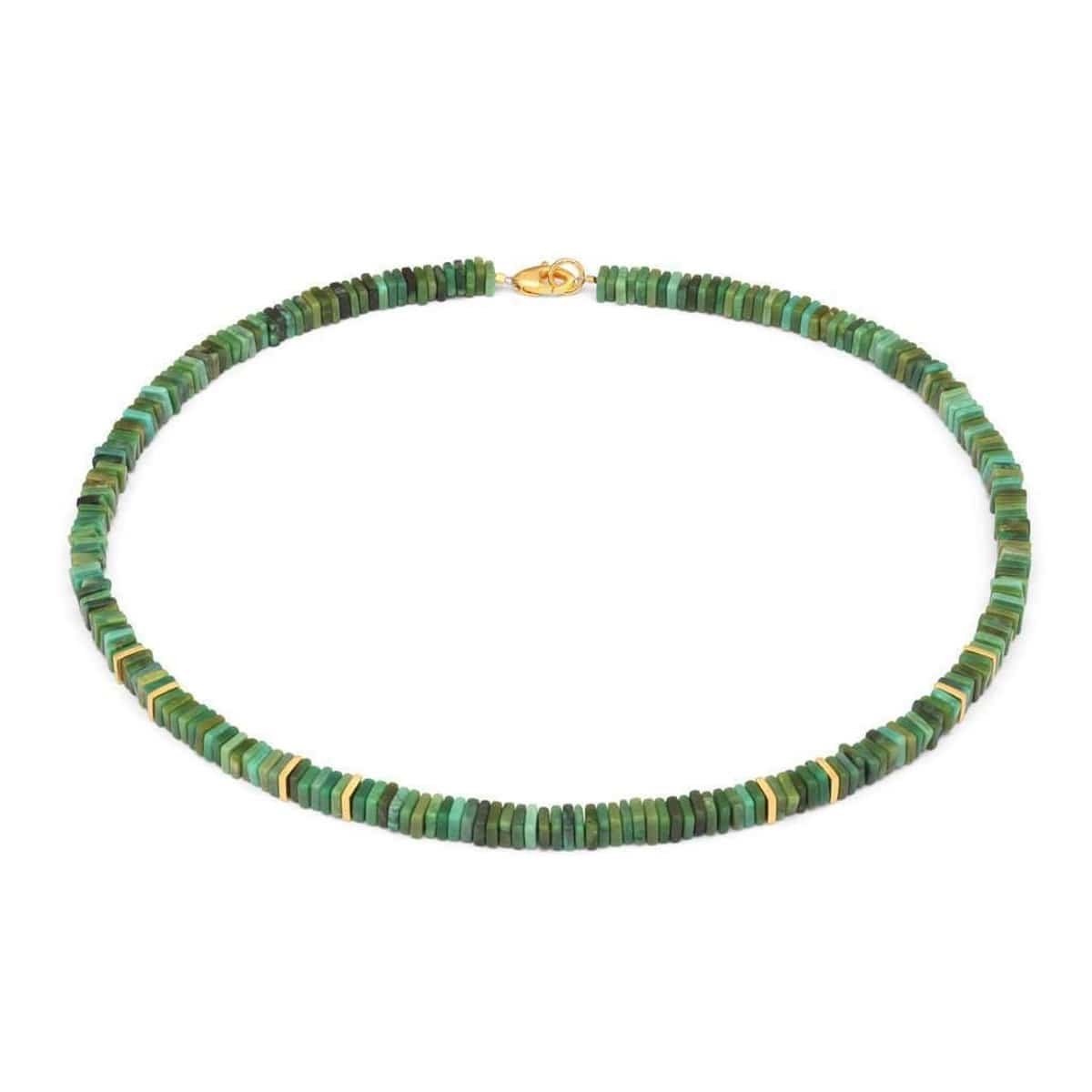 Platino Green Turquoise Necklace - 84420356-Bernd Wolf-Renee Taylor Gallery
