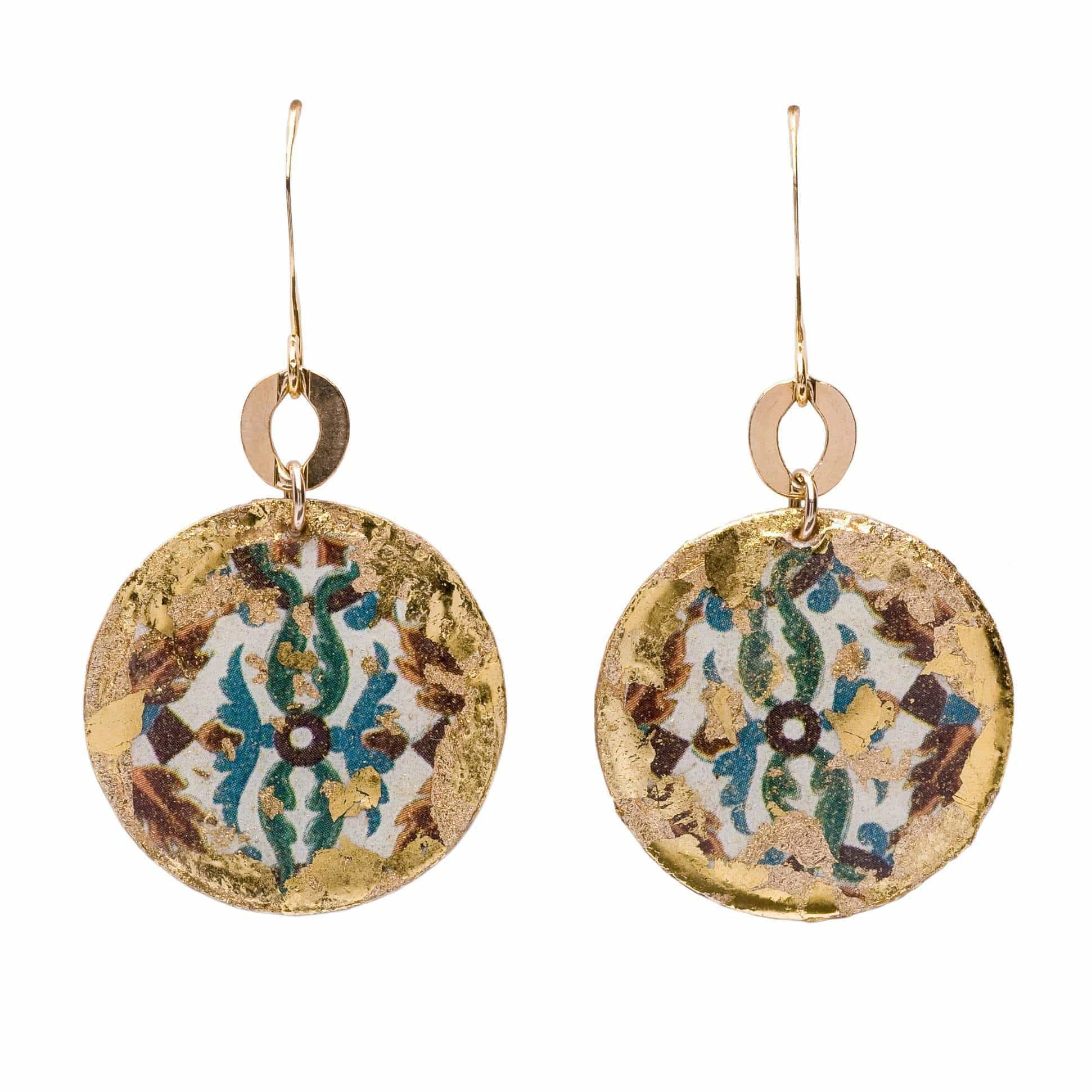 Pompeii Gold Disc Earrings - AC401