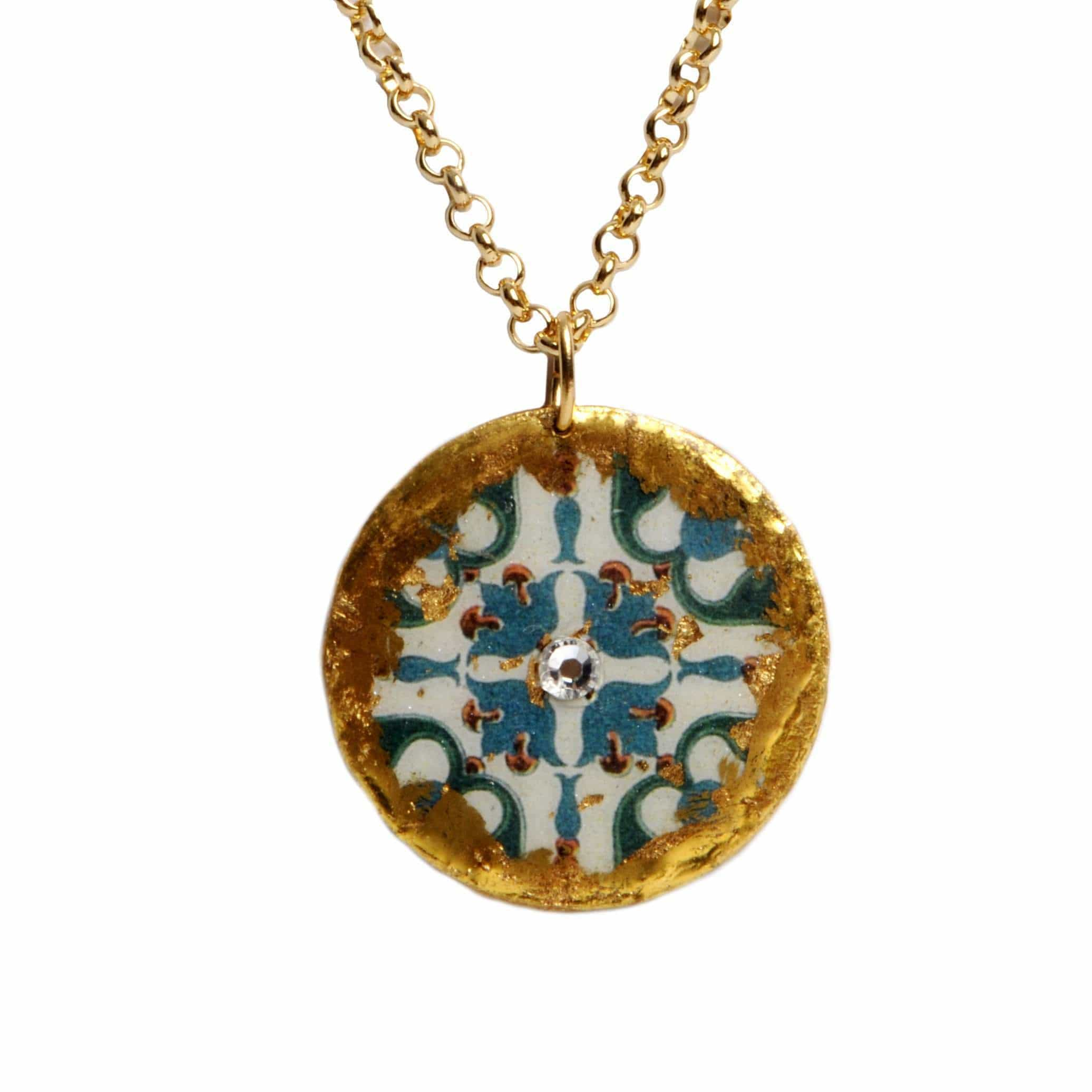 "Pompeii Pendant 17"" Gold - AC201-Evocateur-Renee Taylor Gallery"