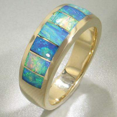 Rainbow Opal Ring - 16167-Christopher Corbett-Renee Taylor Gallery