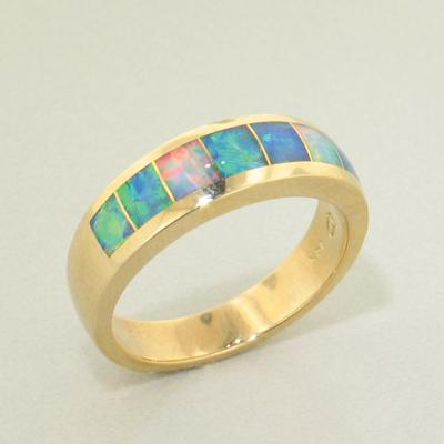 Rainbow Opal Ring - 23003-Christopher Corbett-Renee Taylor Gallery