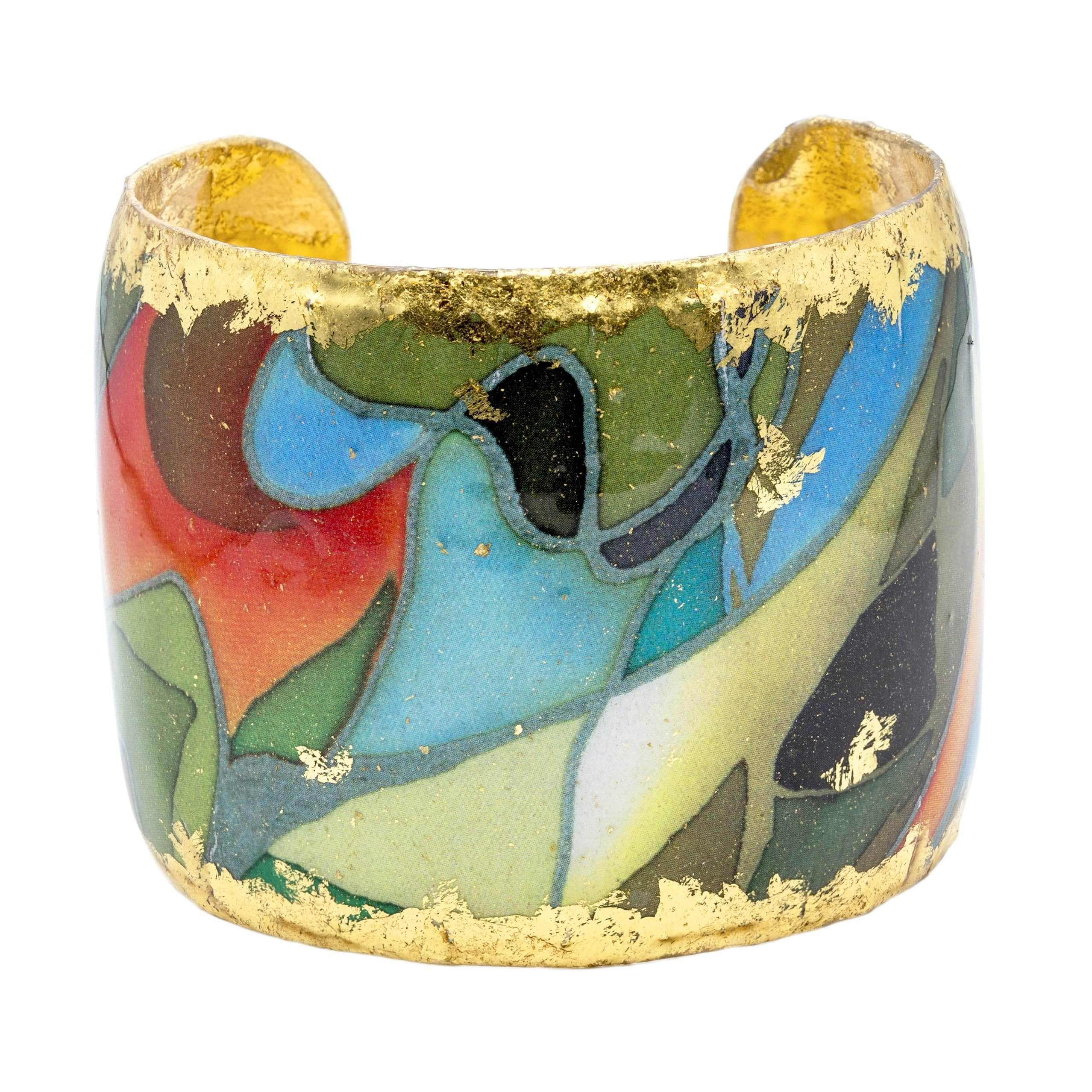 "Rainforest 2"" Gold Cuff - MG103-Evocateur-Renee Taylor Gallery"