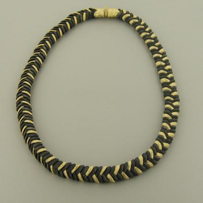 Rattlesnake Grass Gold & Cobalt Chromium Necklace - 22N1-1GG3-YG/ST-Sarah Graham-Renee Taylor Gallery