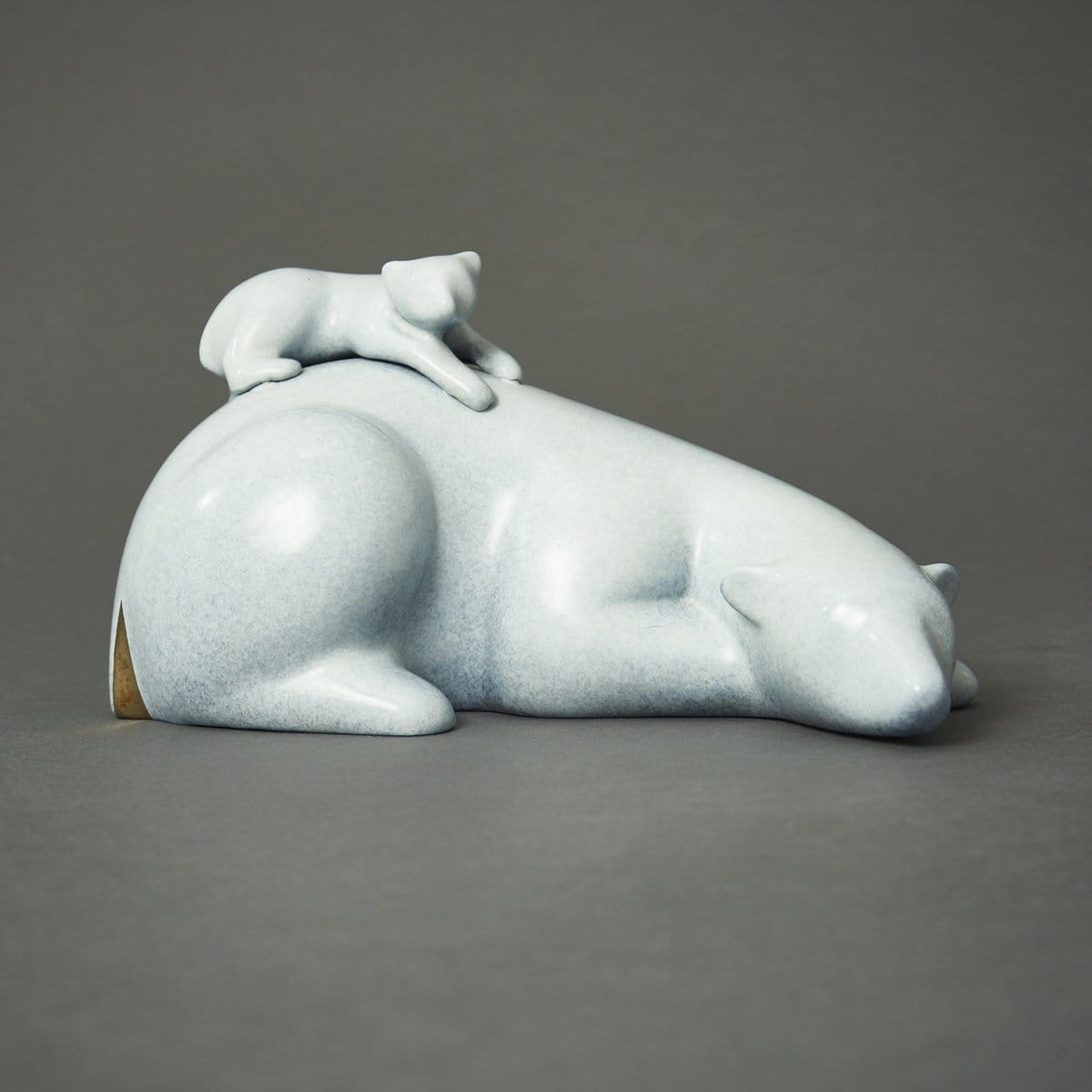 """Reclining Polar Bear & Baby"""