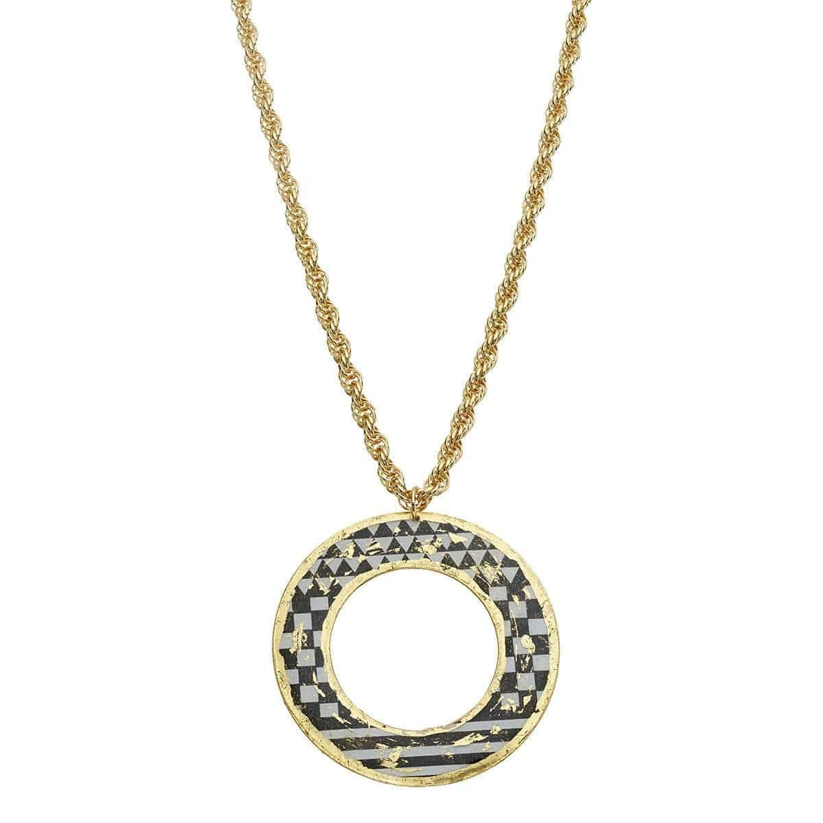 "Rex ""O"" Necklace Gold - BW207-Evocateur-Renee Taylor Gallery"