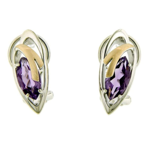 Sterling Silver Amethyst Earrings - 02/83711-AM-Breuning-Renee Taylor Gallery