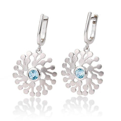 Sterling Silver Blue Topaz Earrings - 06/60714-Breuning-Renee Taylor Gallery