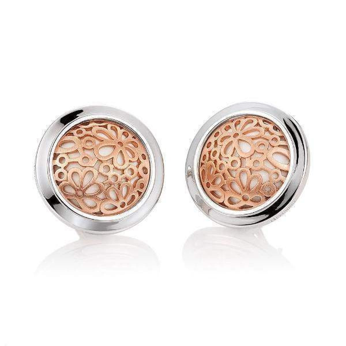 Rose Gold Plated Sterling Silver Earrings - 02/03678-Breuning-Renee Taylor Gallery