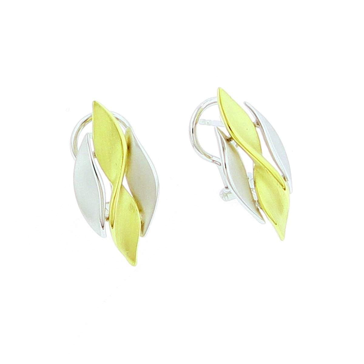 Yellow Gold & Rhodium Plated Sterling Silver Earrings - 04/85700-Y-Breuning-Renee Taylor Gallery