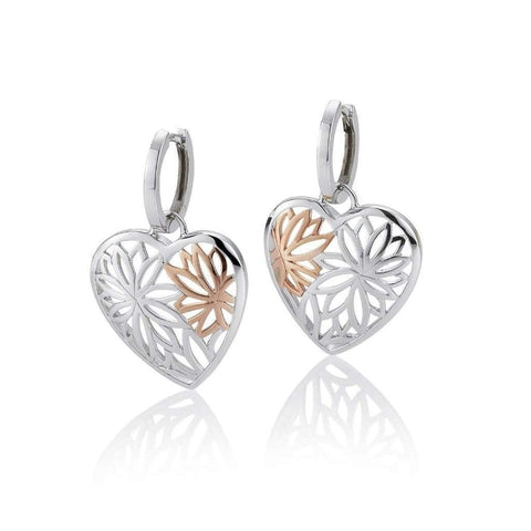 Rose Gold Plated Sterling Silver Earrings - 06/60705-Breuning-Renee Taylor Gallery