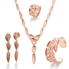 Rose Gold Plated Sterling Silver Necklace - 64/01208-Breuning-Renee Taylor Gallery