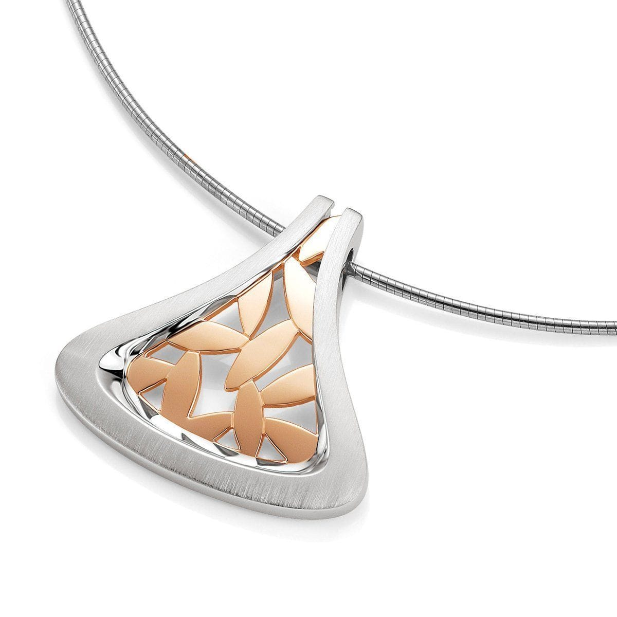 Rose Gold & Rhodium Plated Sterling Pendant - 34/01605-Breuning-Renee Taylor Gallery