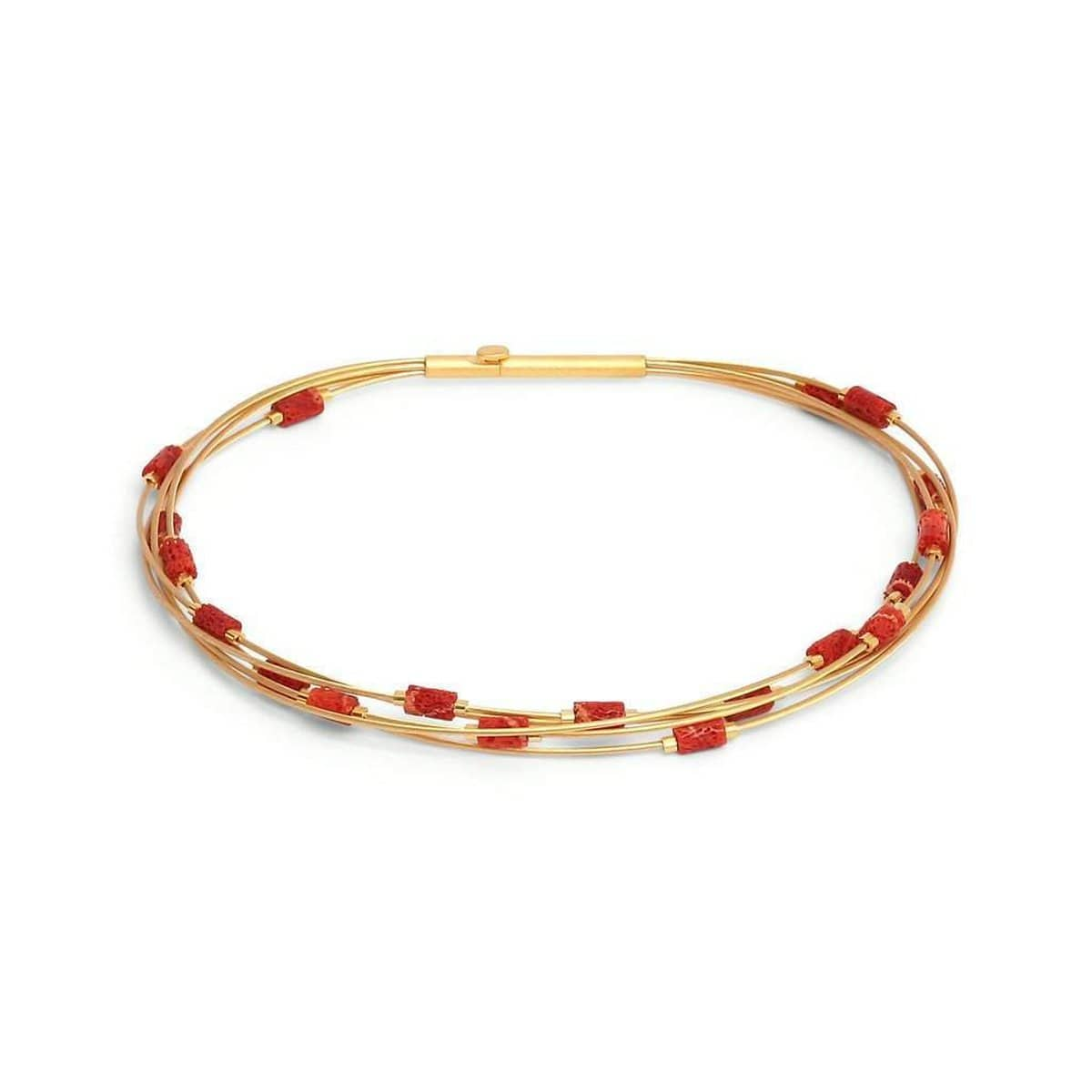 Robina Red Coral Bracelet - 62510296-Bernd Wolf-Renee Taylor Gallery