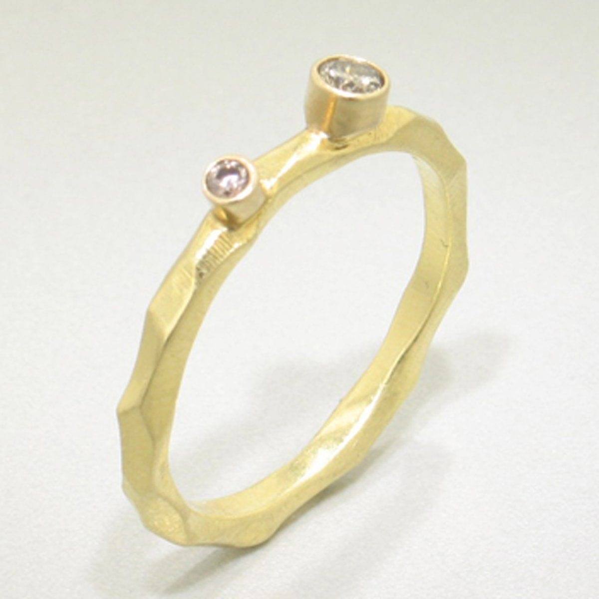 Rogue River Stacking Diamond & Gold Ring - 43R11G722742-YG-Sarah Graham-Renee Taylor Gallery