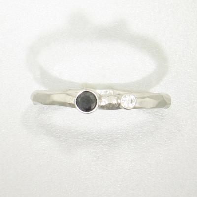 Rogue River Stacking Diamond & White Gold Ring - 43R11G721742-WG-Sarah Graham-Renee Taylor Gallery