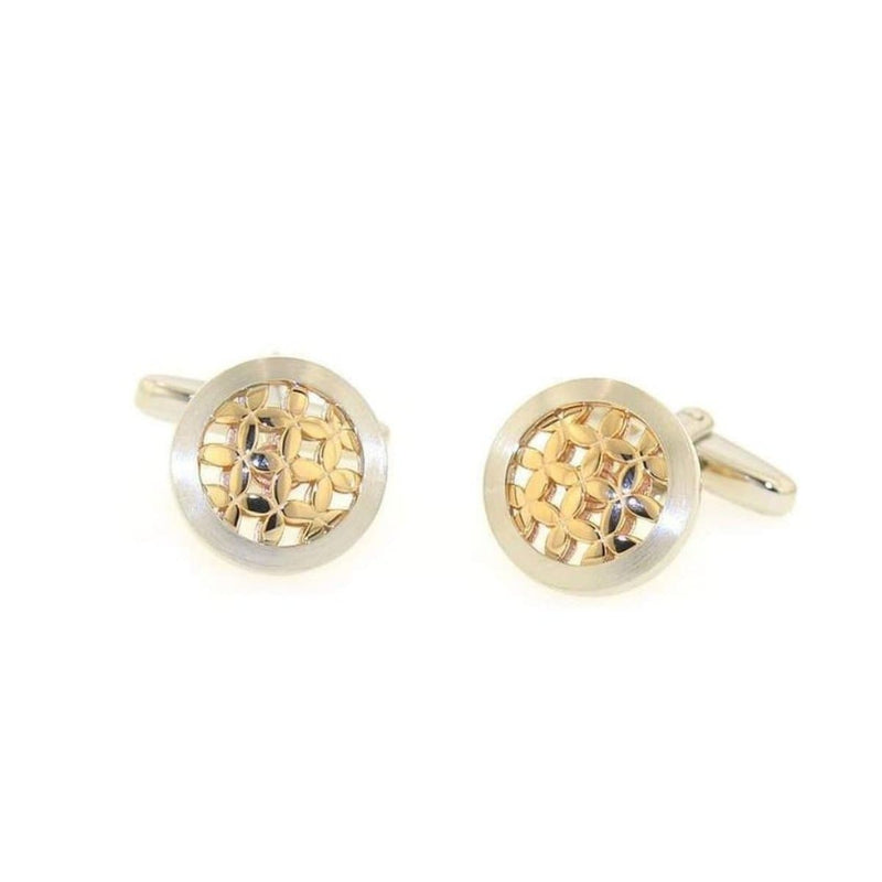 Rose Gold Plated Sterling Silver Cufflinks - 84/00081-Breuning-Renee Taylor Gallery