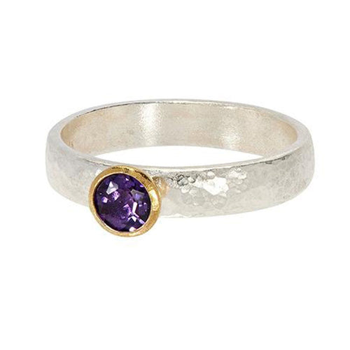Round Amethyst Skittle Ring - SR-390-AM5-RD-GURHAN-Renee Taylor Gallery
