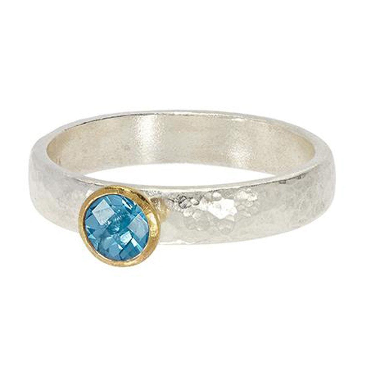 Round Blue Topaz Skittle Ring - SR-390-BT5-RD-GURHAN-Renee Taylor Gallery