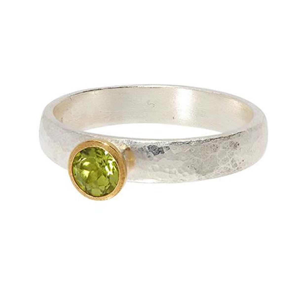 Round Peridot Skittle Ring - SR-390-PD5-RD